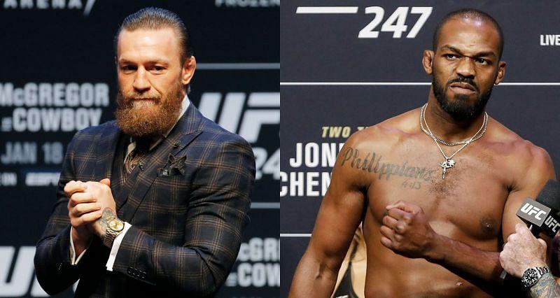 Conor McGregor (left) and Jon Jones (Right)