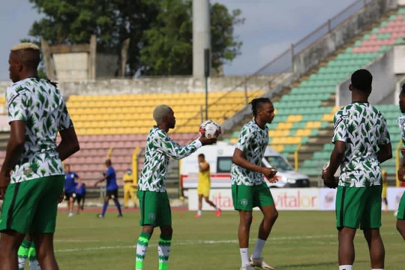 Nigeria will host Lesotho on Tuesday; photo credit: Super Eagles Twitter