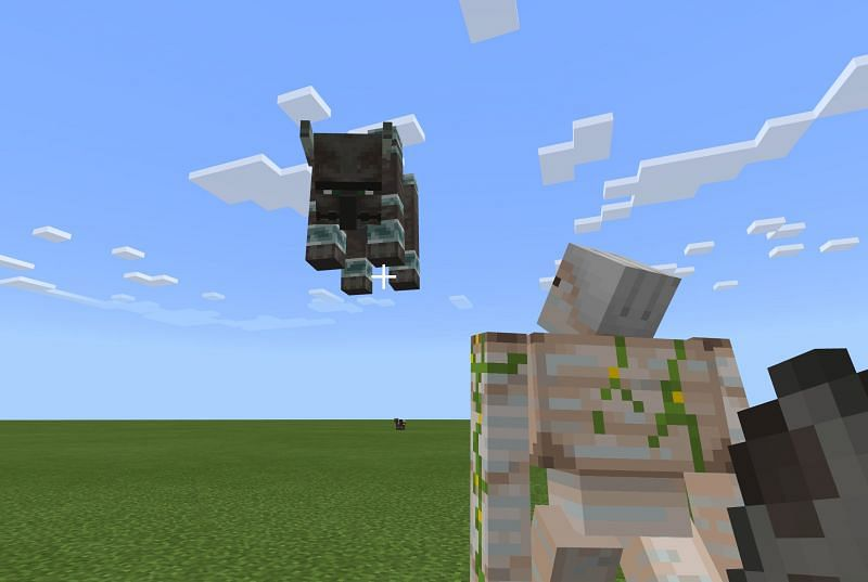 Similarities between Iron Golems and Ravagers (Image via Minecraft)