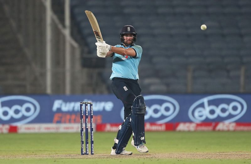 Dawid Malan in action during the ODI series against India.