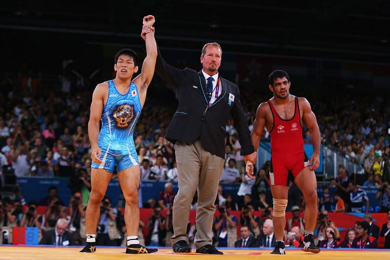 Sushil Kumar (in red) will be seen in action during the World Olympic Qualifiers in Bulgaria