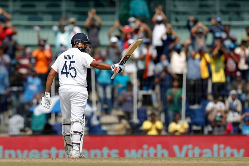 Rohit Sharma has amassed 296 runs at an average of 59.2 in the three England Tests so far [Credits: BCCI]
