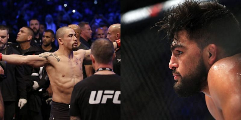 Robert Whittaker (left) and Kelvin Gastelum (right)