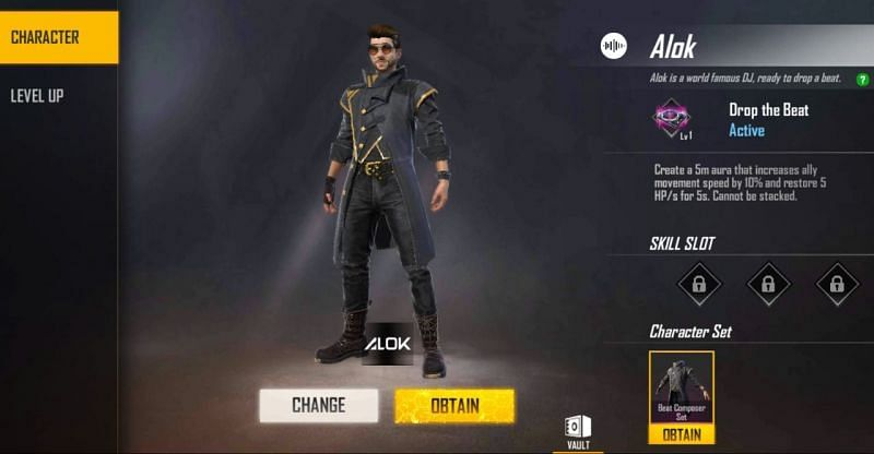 Alok character in Free Fire