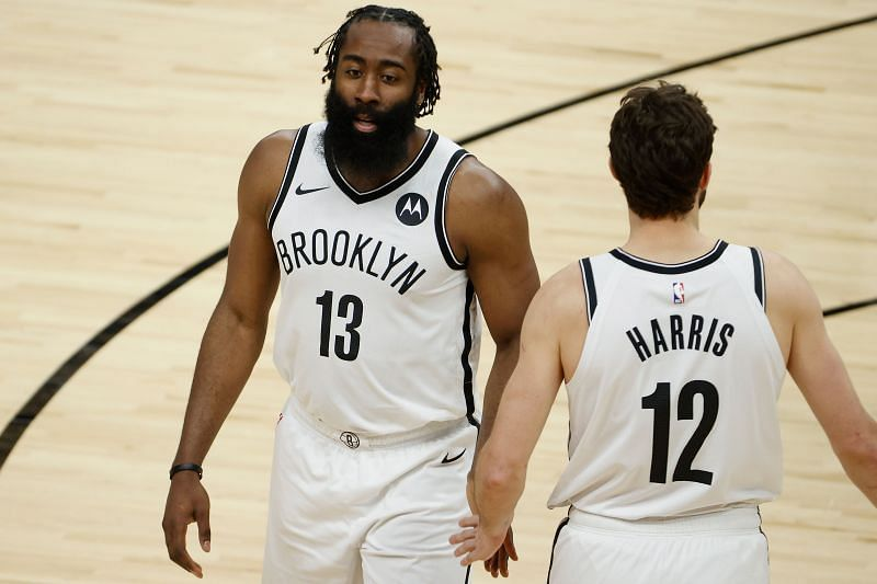 James Harden (left) and Joe Harris