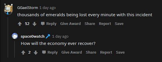 An economic collapse indeed (Image via Reddit)