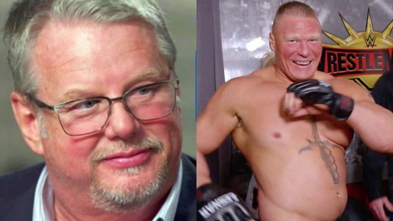 Bruce Prichard and Brock Lesnar.