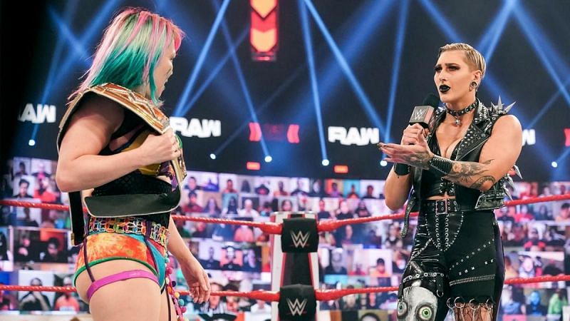 Rhea Ripley is challenging for the RAW Women
