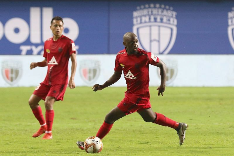 Khassa Camara in action for NorthEast United FC in an ISL match (Image Credits: ISL Media)