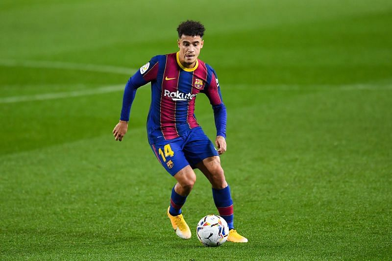 Phlippe Coutinho in action for Barcelona