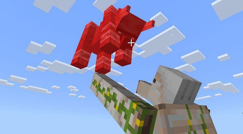 Ravager vs Iron Golem (Image via Minecraft)