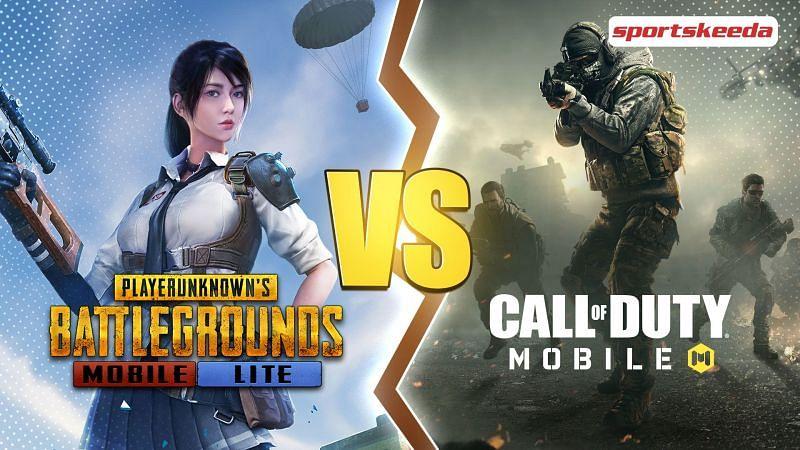 Comparing PUBG Mobile Lite and COD Mobile, two massive mobile games