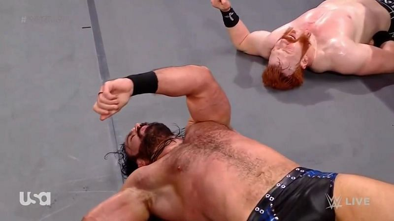 Sheamus and Drew McIntyre on WWE RAW
