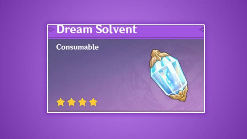 """Genshin Impact 1.5 leaks: New weekly talent material converter """"Dream Solvent"""" leaked online"""