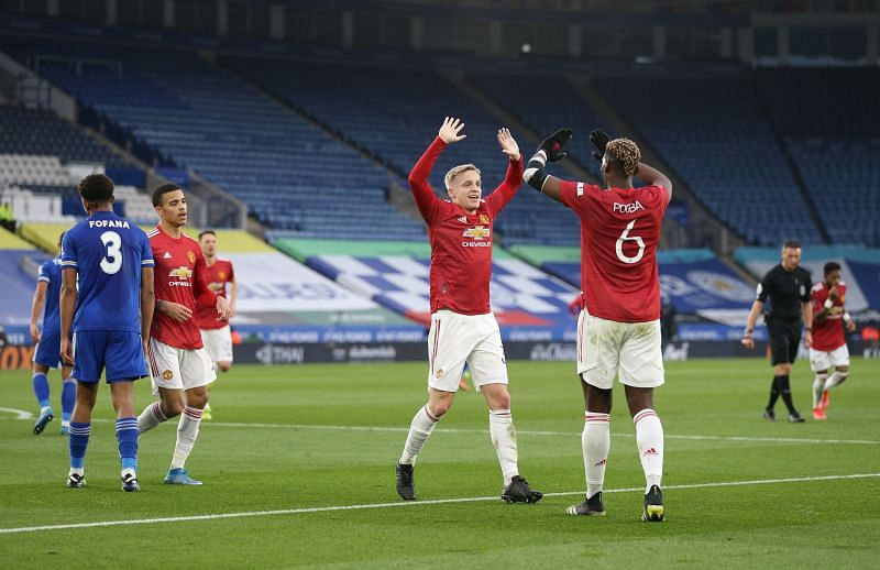Donny van de Beek and Paul Pogba were handed starts in a much-changed Manchester United United lineup.