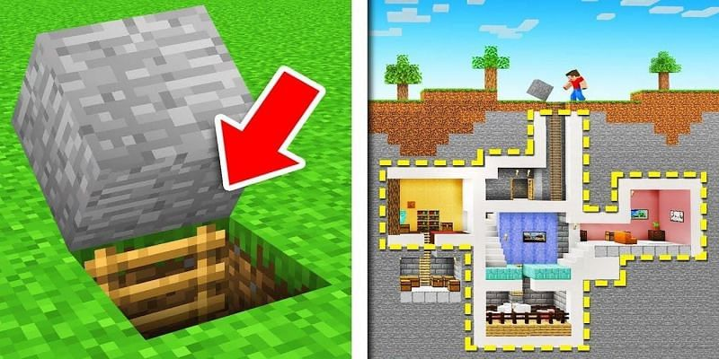 The best base designs to hide from friends in Minecraft (Image via Pinterest)