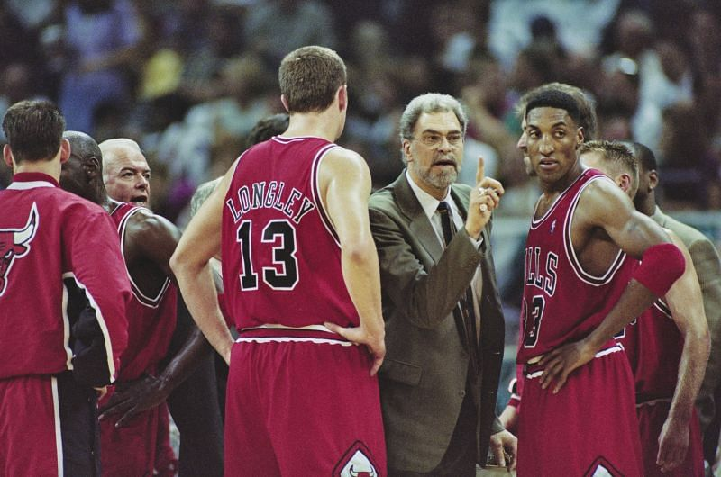 Phil Jackson during his days as the coach of the Chicago Bulls