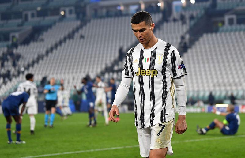 Cristiano Ronaldo in Juventus colours