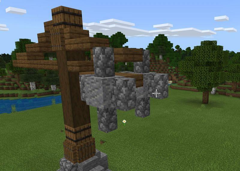 Andesite counterweight (Image via Minecraft)