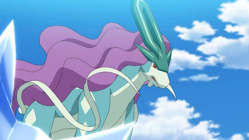 Suicine in the anime (Image via The Pokemon Company)