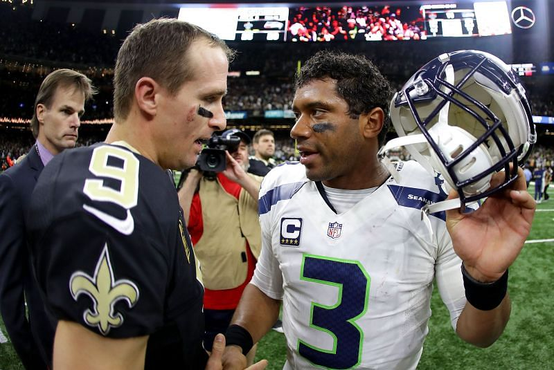 Could Russel Wilson be set to replace Drew Brees under center for the Saints?