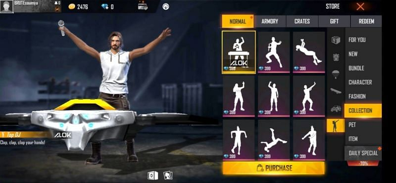 Top DJ emote in Free Fire