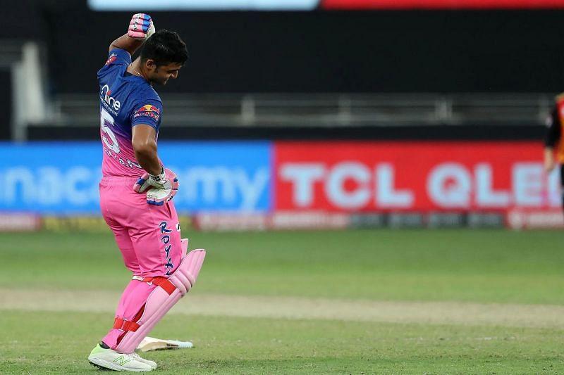 Riyan Parag during IPL 2020.