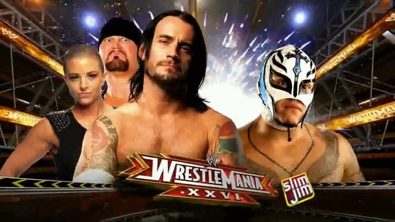 Punk and Mysterio at WrestleMania 26