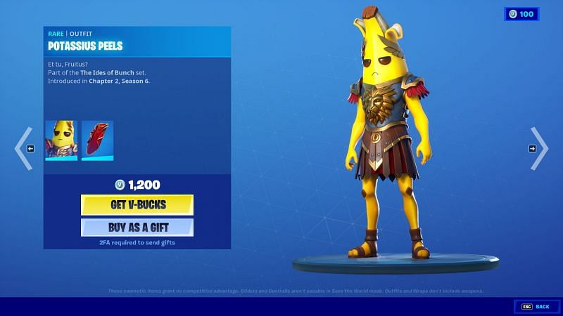 Relive the glory of the Roman Empire with the Potassius Peels skin (Image via Epic Games/Fortnite)