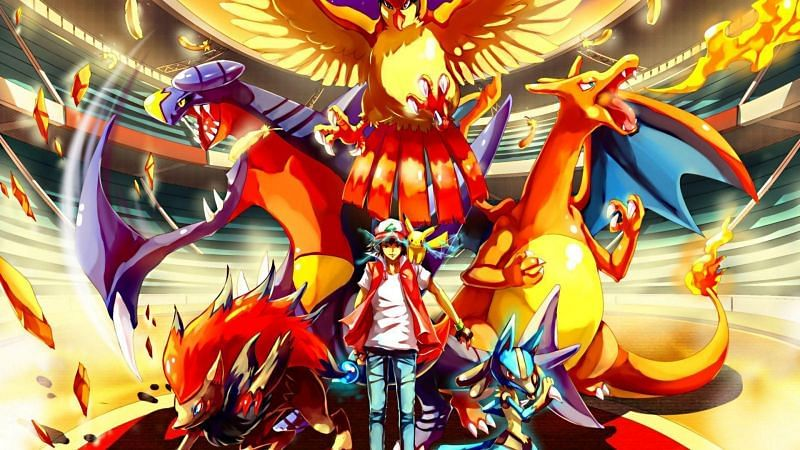 Red and powerful Pokemon (Image via WallpaperAccess)