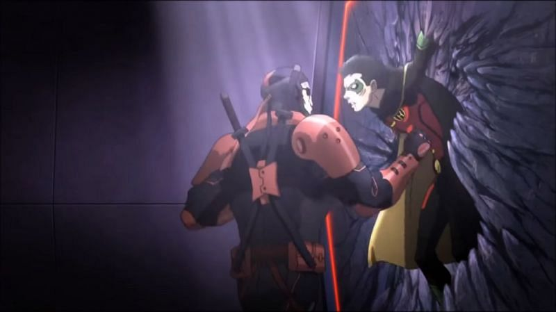 Iconic rivalry between Robin and Deathstroke (Image via DCAU)