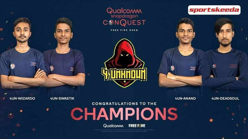 Team 4 Unknown crowned as the Champions of Snapdragon ConQuest: Free Fire Open