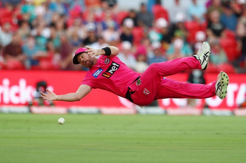 Dan Christian in action for the Sydney Sixers.