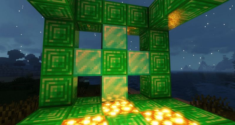 Emeralds can be used for decorative purposes by turning them into blocks in Minecraft (Image via Minecraft)