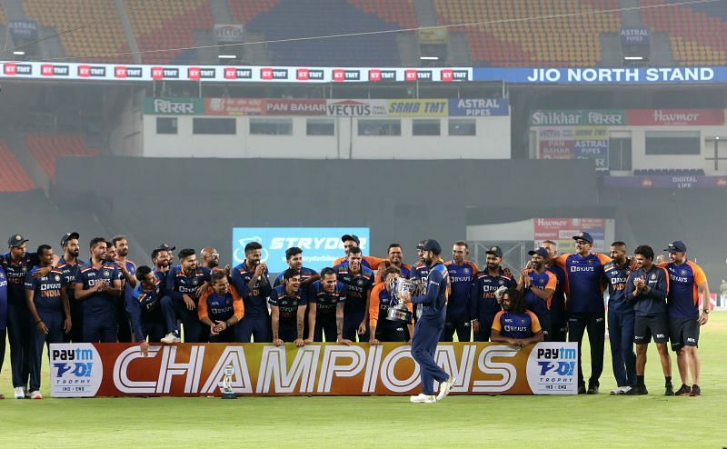 India won the T20I series against England 3-2.