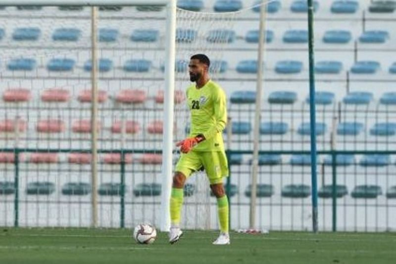 Amrinder Singh conceded only one goal against Oman despite being bombarded by shots (Image Courtesy: AIFF Media)