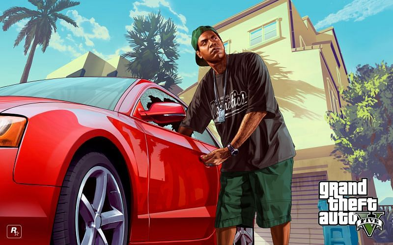 Many fans theorized that Lamar Davis was going to replace Franklin in one of the GTA 5 endings (Image via Rockstar Games)