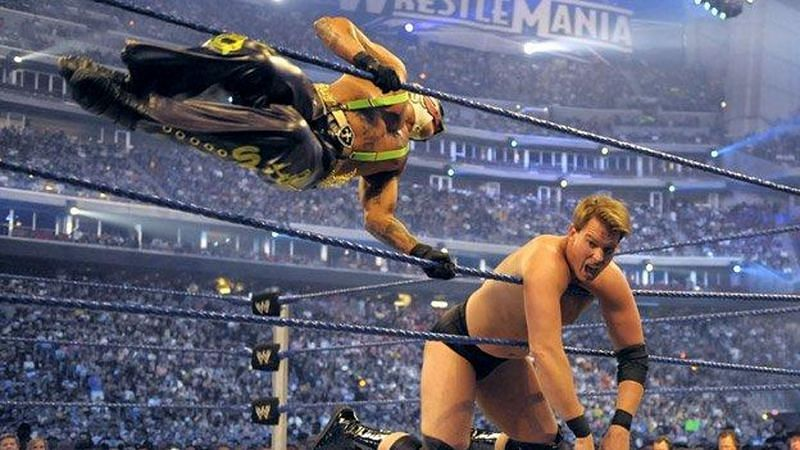 """John """"Bradshaw"""" Layfield competed in his final match at WWE WrestleMania XXV"""