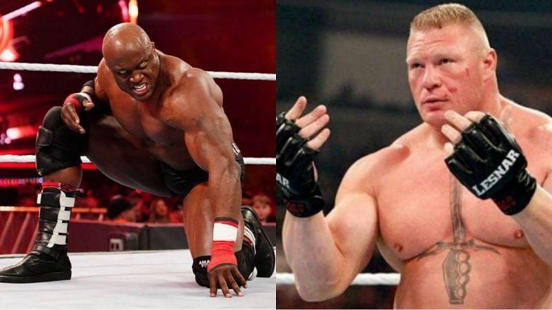 वर्तमान WWE चैंपियन बॉबी लैश्ले और ब्रॉक लैसनर