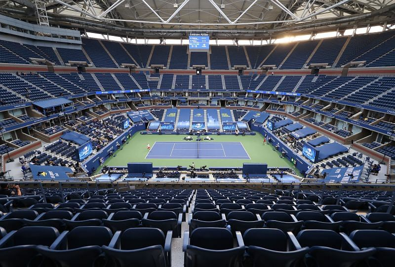 A general view of Arthur Ashe Stadium during the 2020 US Open men