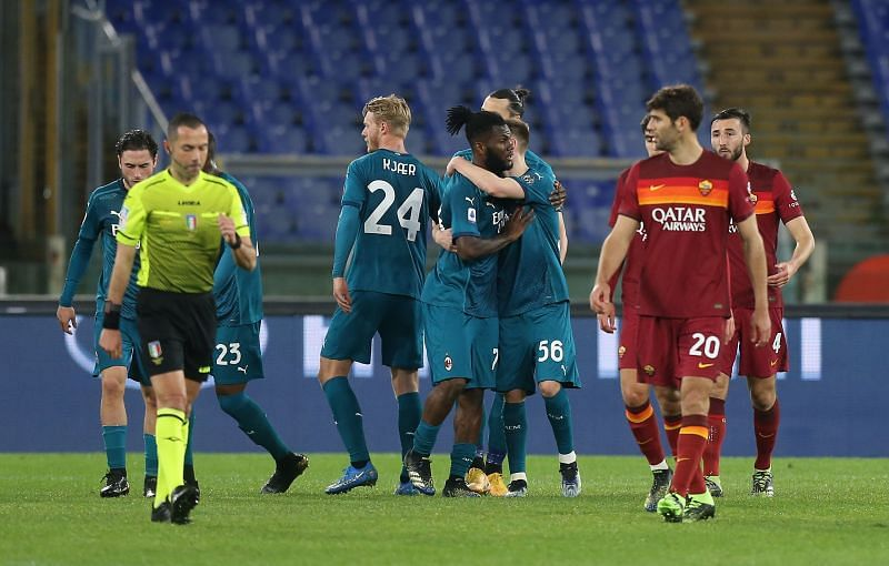 Frank Kessie took full advantage of the penalty decision to score AC Milan