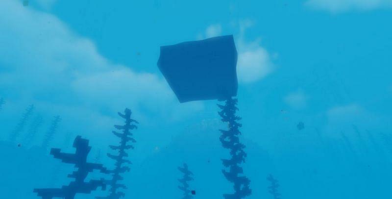 Shown: Blocks being placed on top of Kelp