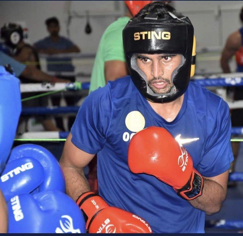 Manish Kaushik won a gold medal at the 2021 Boxam International Tournament
