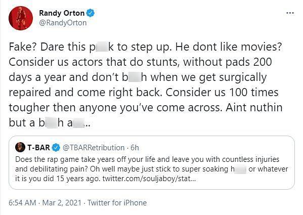 "Randy Orton did not appreciate WWE being described as ""fake"""
