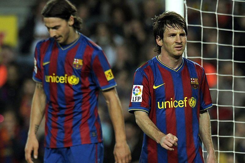 Zlatan Ibrahimovic and Lionel Messi