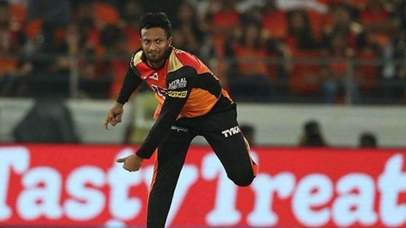 Shakib Al Hasan last played for the Sunrisers Hyderabad
