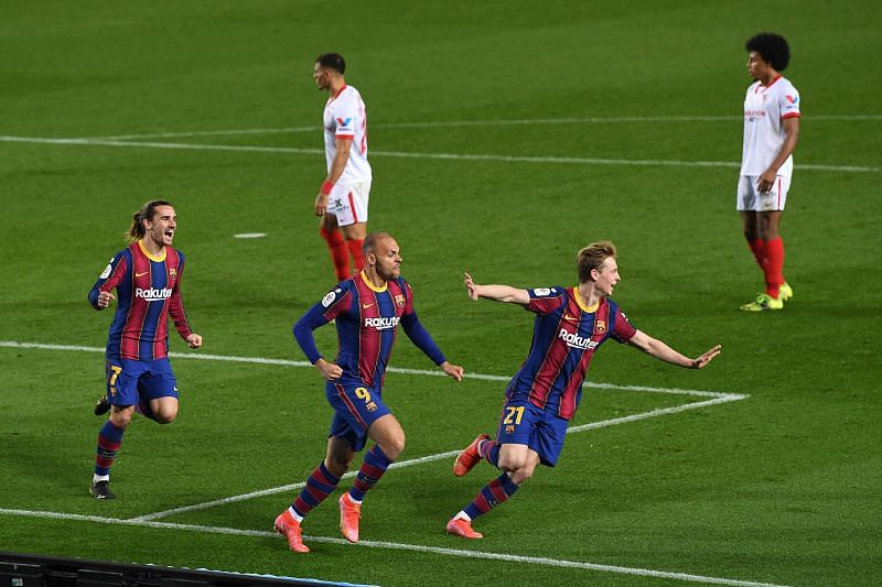 Barcelona completed a comeback victory against Sevilla