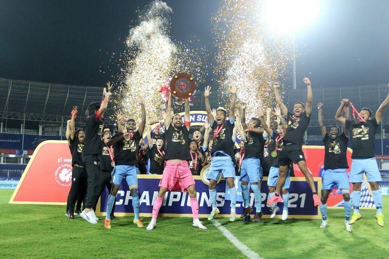 Mumbai City FC win the Indian Super League (ISL) 2020-21 title.