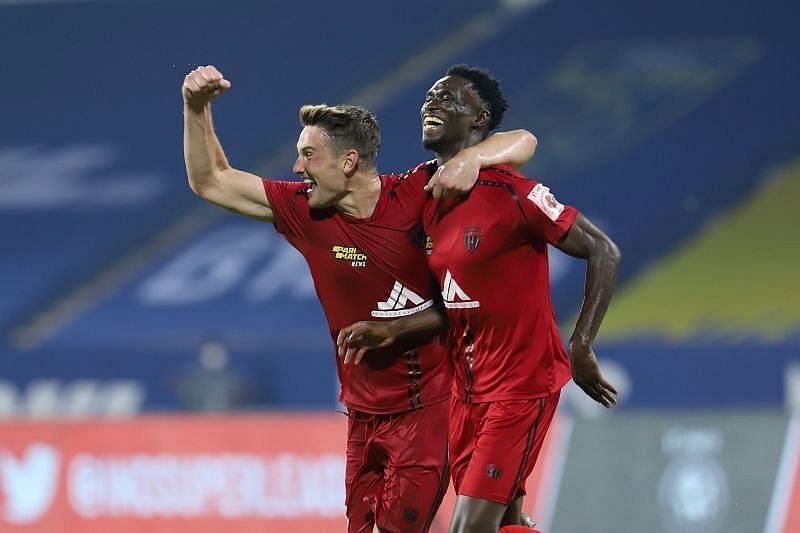 Idrissa Sylla scored the late equalizer for the Highlanders in the first leg of the semifinal (Courtesy - ISL)