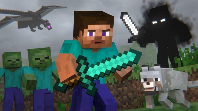 Animated Minecraft Steve (Image via YouTube)